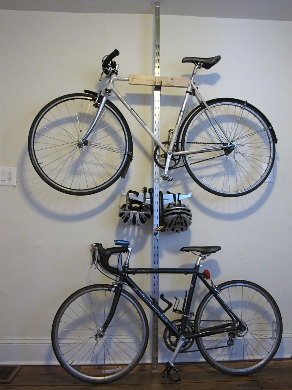 Look jeremy s bicycle rack apartment therapy - Ikea Hack Diy Bike Storage