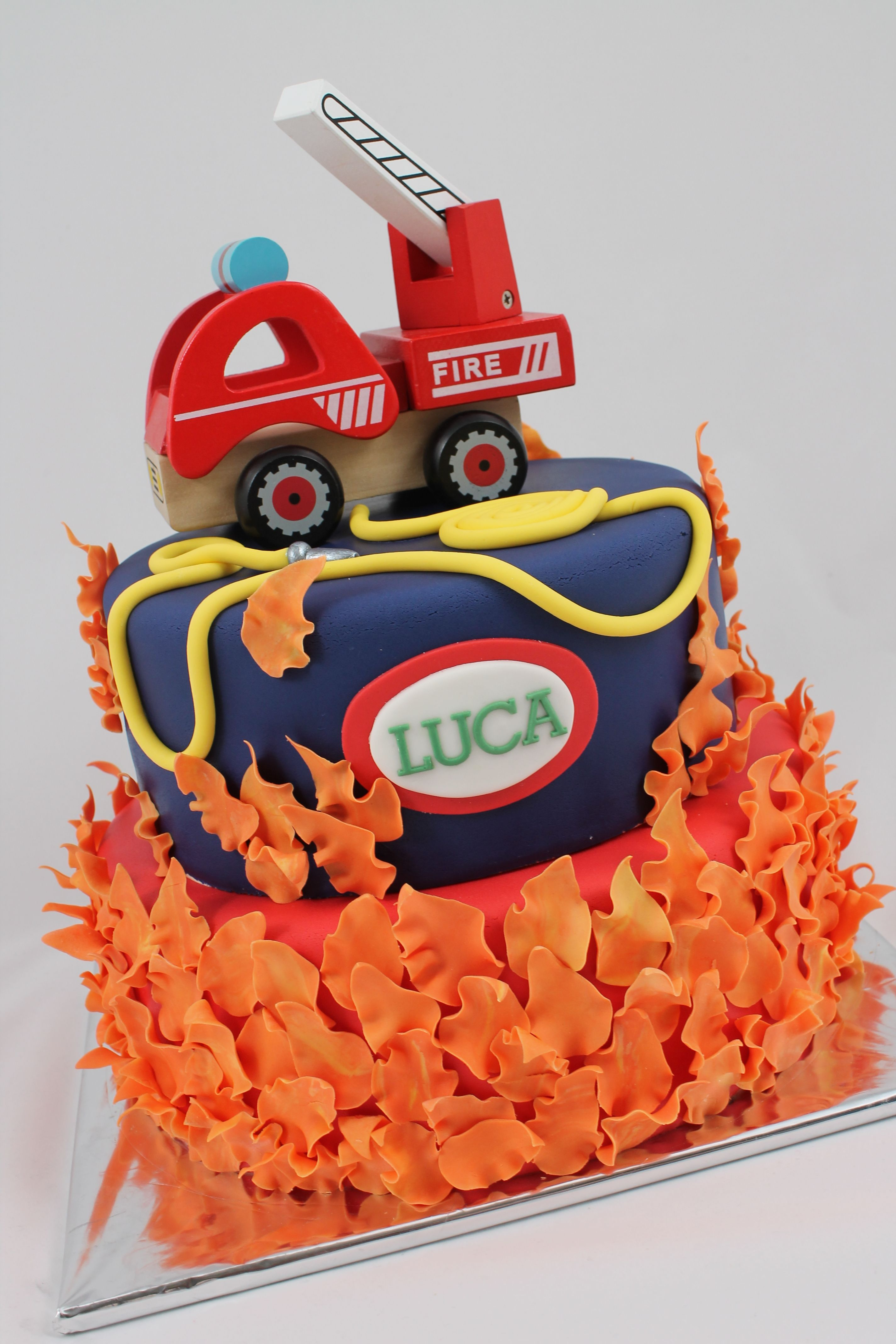 Fireman Firefighter Cake