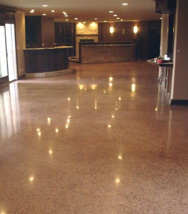 My Dream Floor Polished Terazzo Look In A Poured Concrete