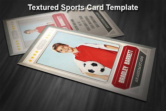 Textured Sports Card Template | Card templates, Photoshop and Template