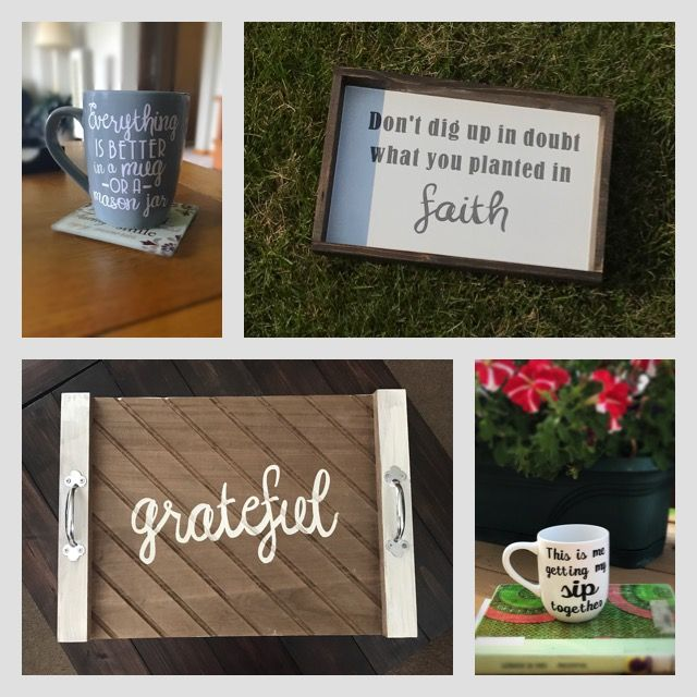 Mugs With Sayings Rustic Wood Signs Unique Décor By Caffeinatendecorate