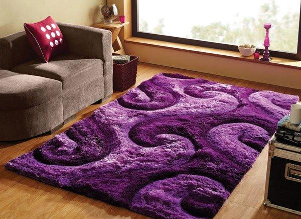 20 Fluffy And Stylish Shag Rugs In 2020 Purple Area Rugs Purple Rug Purple Home Decor
