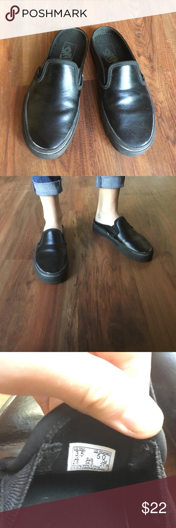 Vans Shoes | Metallic Open Back Slip