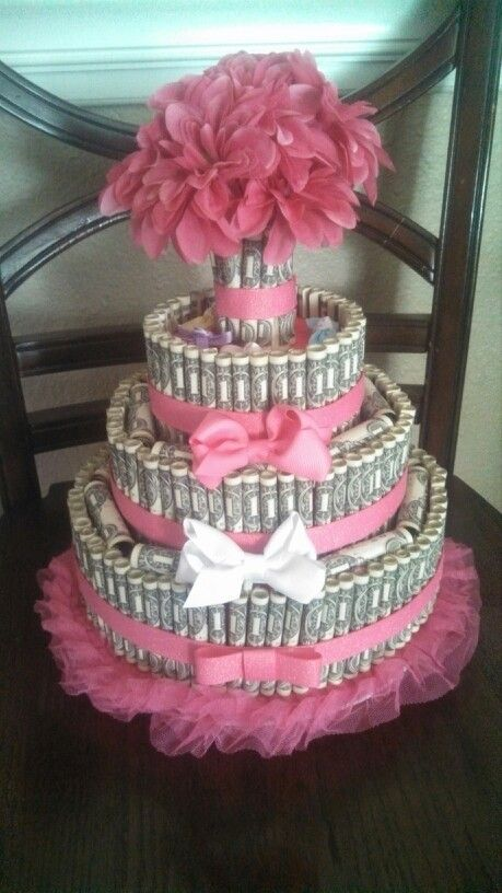 Money Cake I Made For My Daughters Baby Shower 200