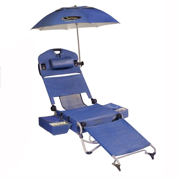 My dream beach chair with coolers, umbrella Brookstone Likes - sillas de playa