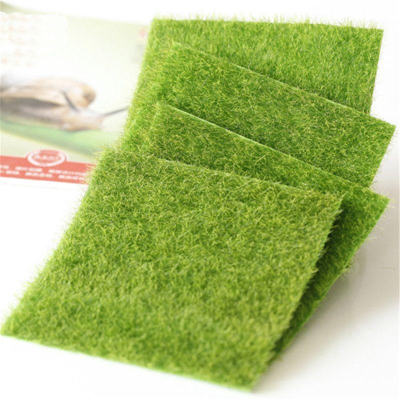 1pc Micro Landscape Creative Fake Lawn Ornament Miniature Garden Turf Decoration