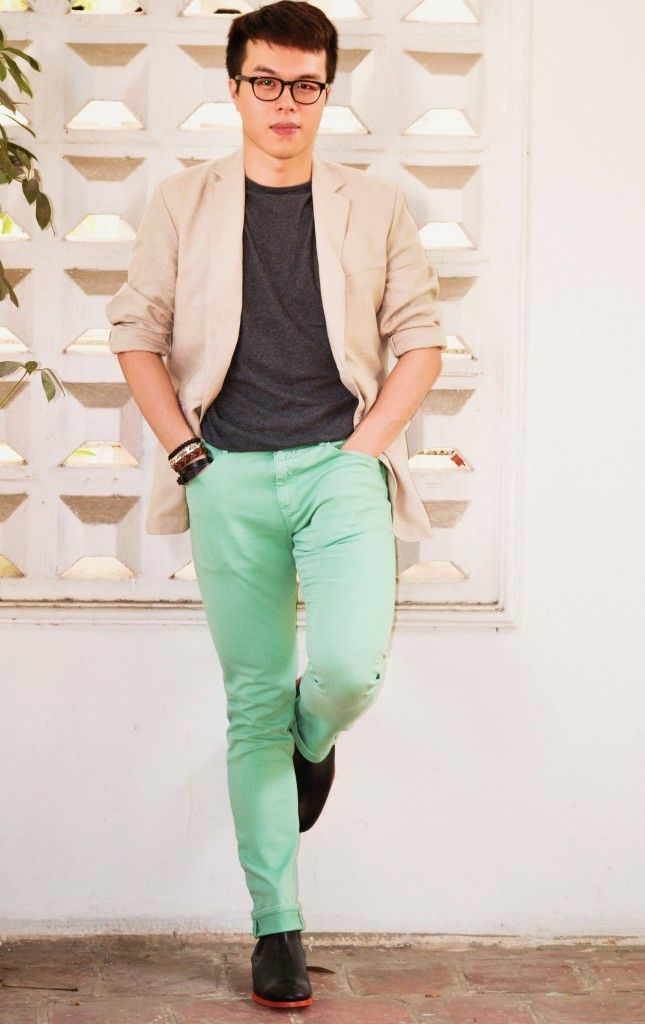 Mint Pant Outfits For Men 30 Ideas How To Wear Mint Pants Mens Colored Pants Mens Outfits Mint Pants Outfit