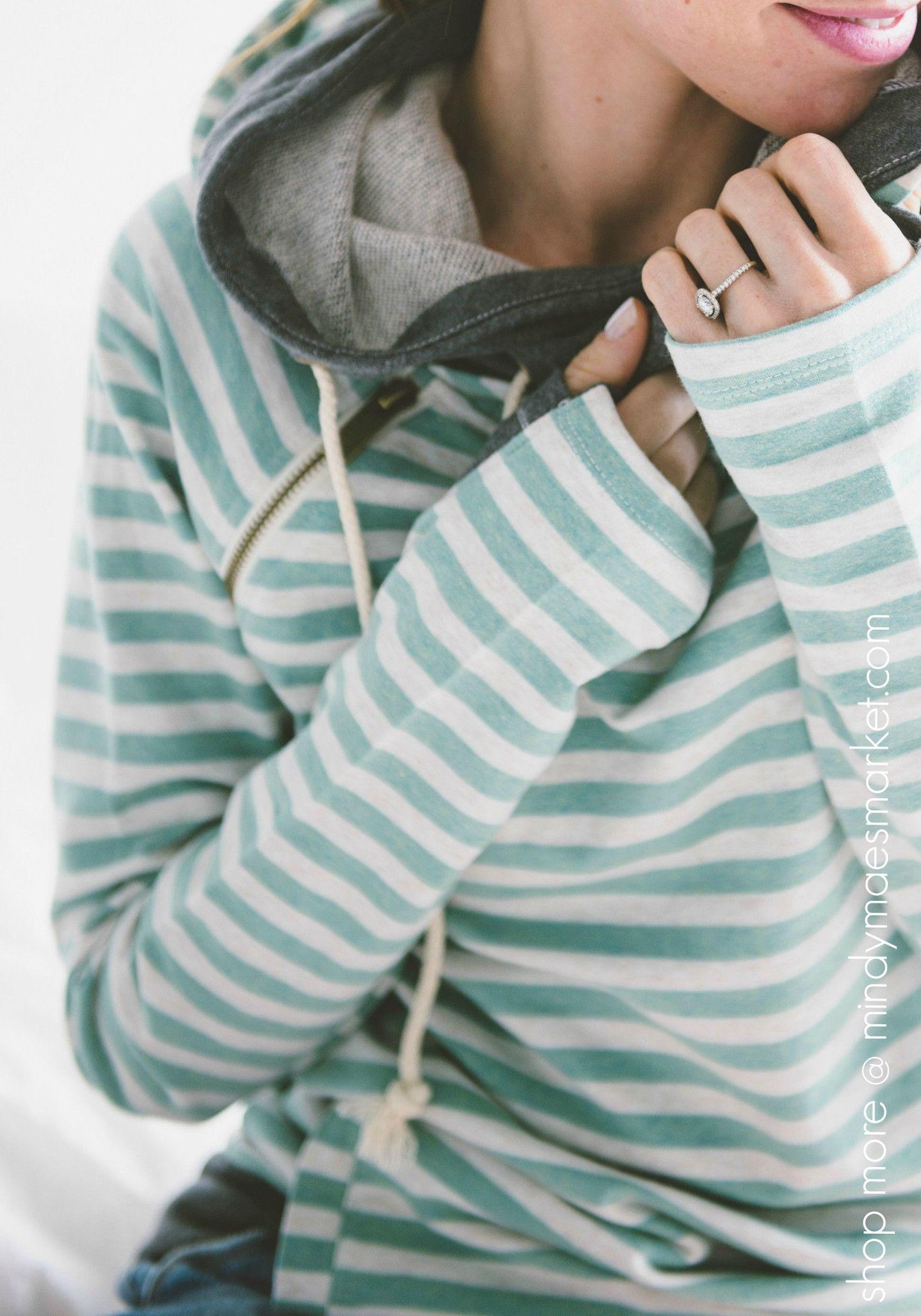 Double Hooded Sweatshirt Mint   Style, Mindy maes market