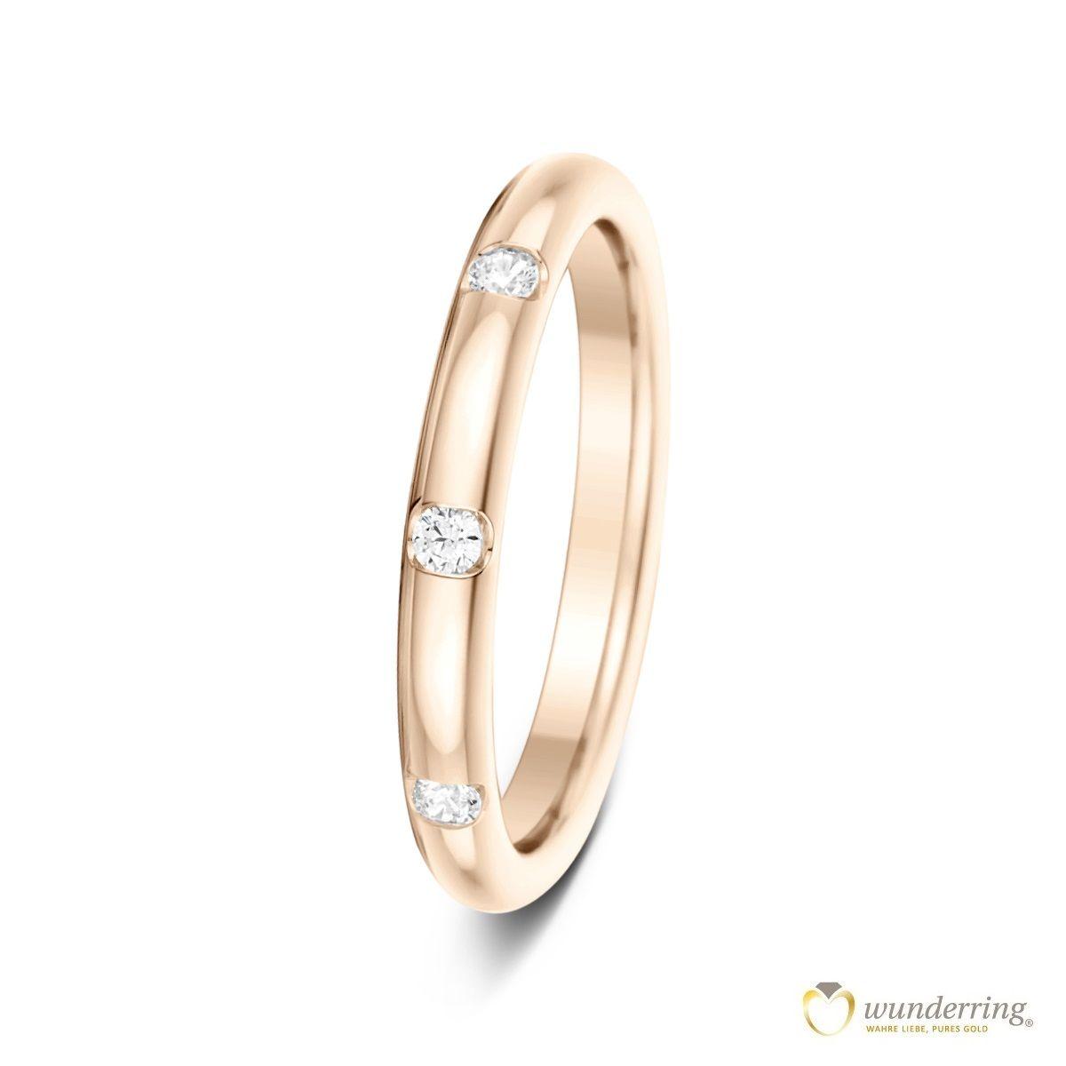 Schmaler Diamantring Roségoldring Auch Sehr Schön Zum Kombinieren Beispiel Als Vorsteckring Ringe