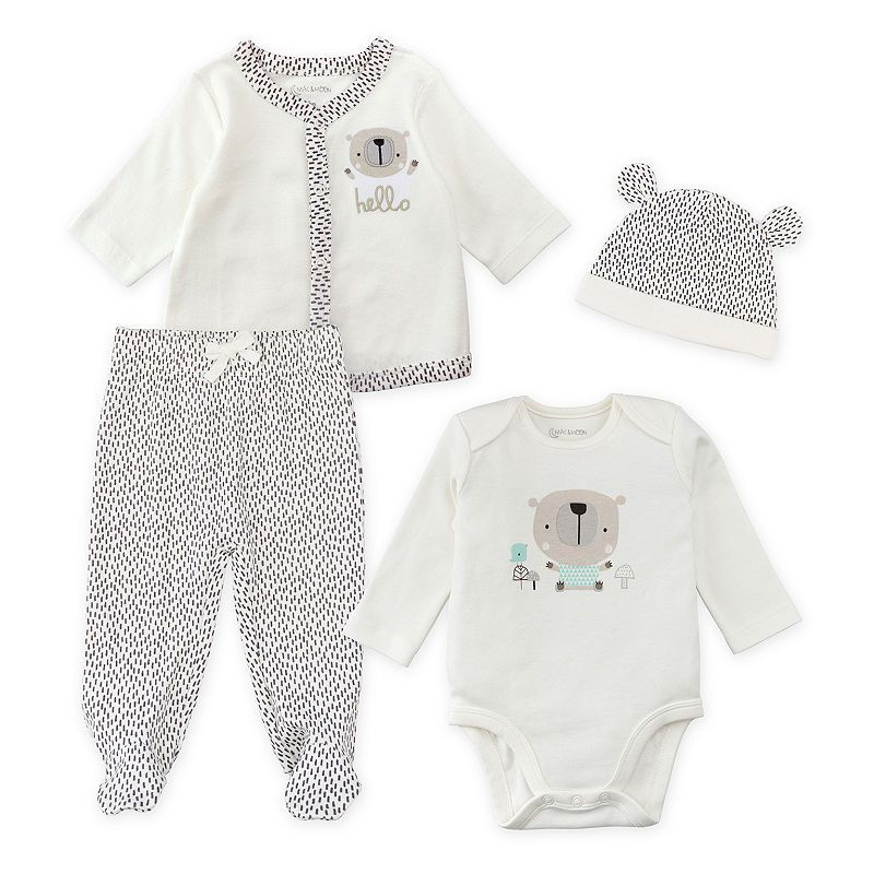 e18c9a295 Mac And Moon 4-Pc Layette Set Pant Set Baby Unisex   Products ...