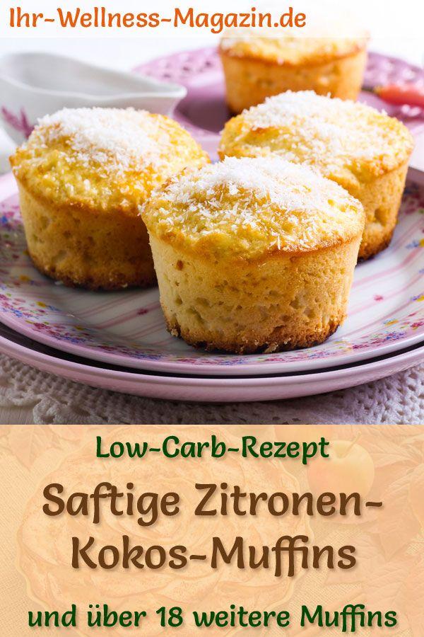 Saftige Low Carb Zitronen-Kokos-Muffins - einfaches Rezept ohne Zucker
