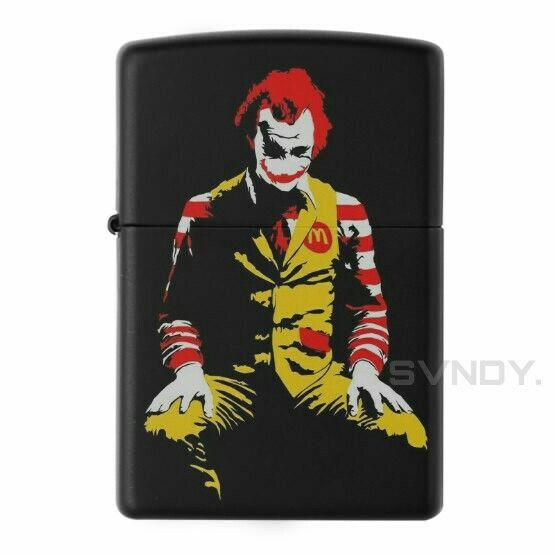Mc Joker Zippo Black Matte Custom Zippo In 2018 Pinterest