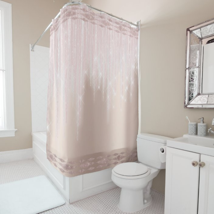 Pin On Luxury Angel Kissed Shower Curtain Peach Rose Gold