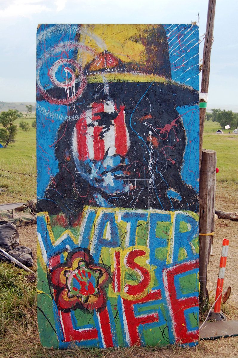 Photos Native American Pipeline Protest Brings National Attention Protest Art American Indian Art Native American Pipeline