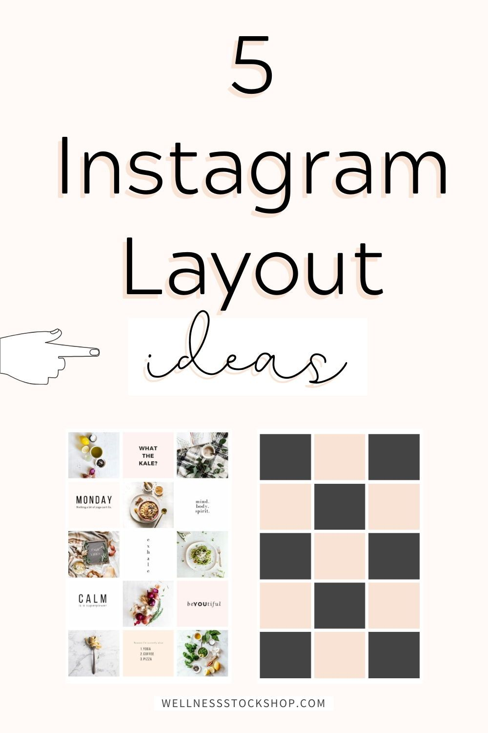 With so many different Instagram grid layouts to choose from it's no wonder, more people are looking for ways to use their stock photos in a way that inspires maximum engagement. #InstagramTips #SocialMediaTips