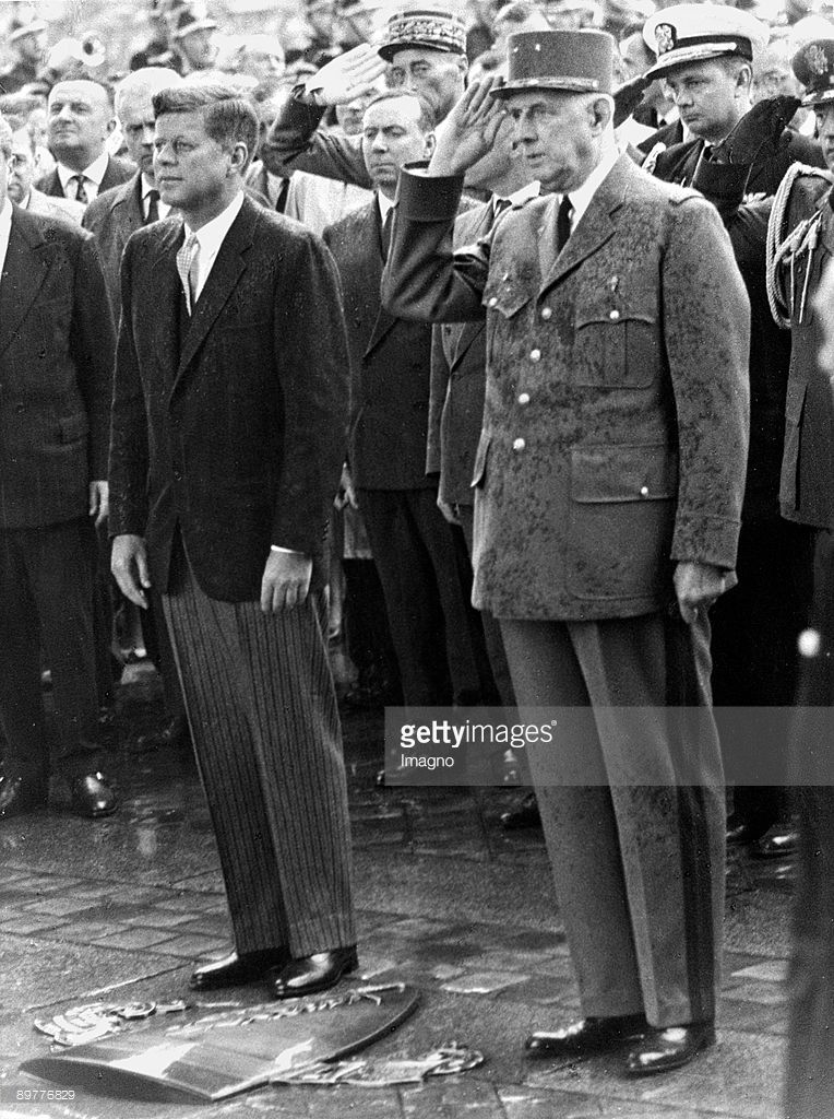 French President Charles De Gaulle And John F Kennedy On Occasion Of Gaulle La Republique Francaise Et Personnage Historique