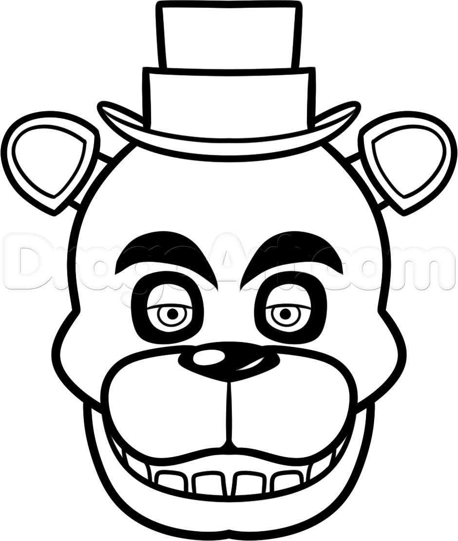 How To Draw Freddy Fazbear Easy Step 7