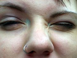 Fitted Hoop Nose Ring A Silver 18g 3 8 Nose Hammerhead Or
