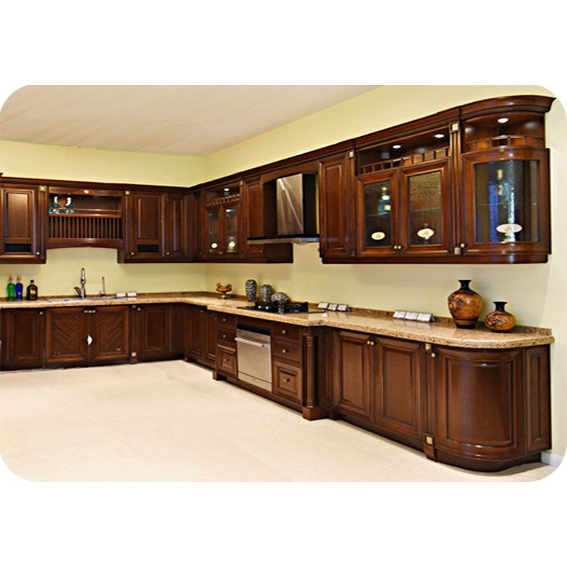 Solid Wood American Kitchen Cabinet Door Style Solid Raised