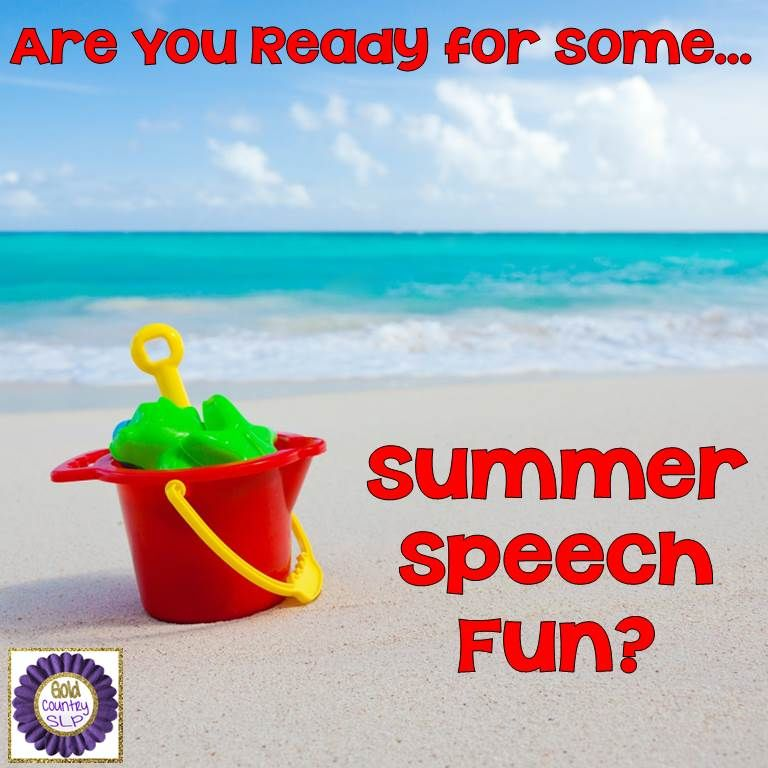 Here is a GREAT list of summer-themed speech & language. What variety! Check it out!