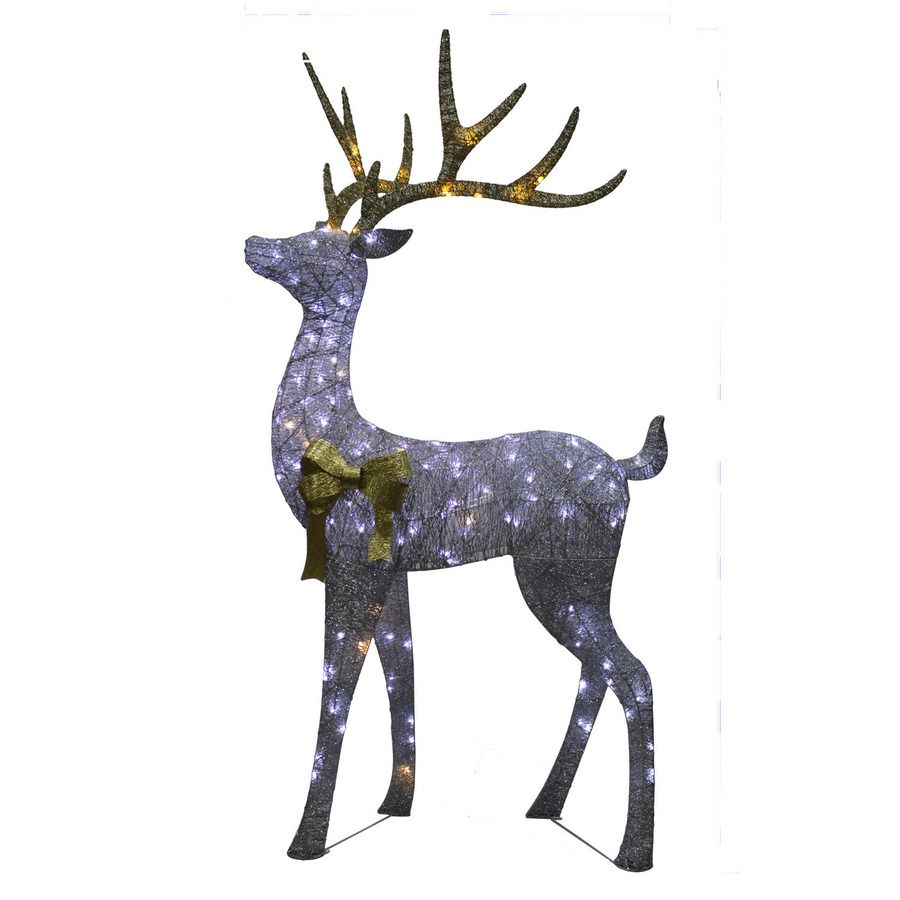 Holiday Living 7 16 Ft Freestanding Elk Sculpture With Twinkling