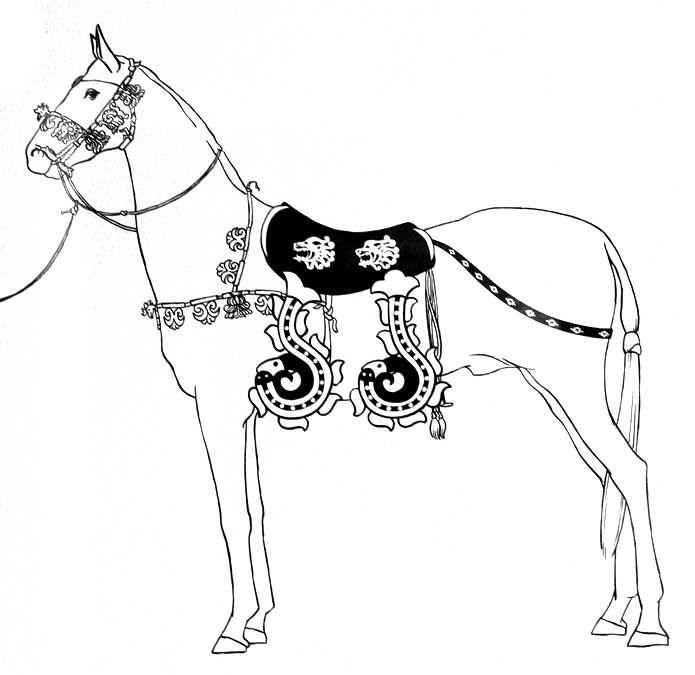 Horse With Harness Pazirik Altai Kurgan 1 305 288 Bc