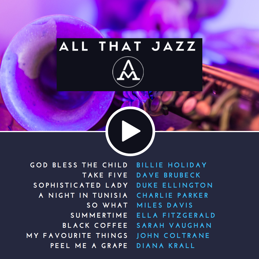 Best Jazz Music Tracks Billie Holiday Dave Brubeck Duke Ellington Charlie Parker Diana Krall Jazz Songs Billie Holiday Dave Brubeck