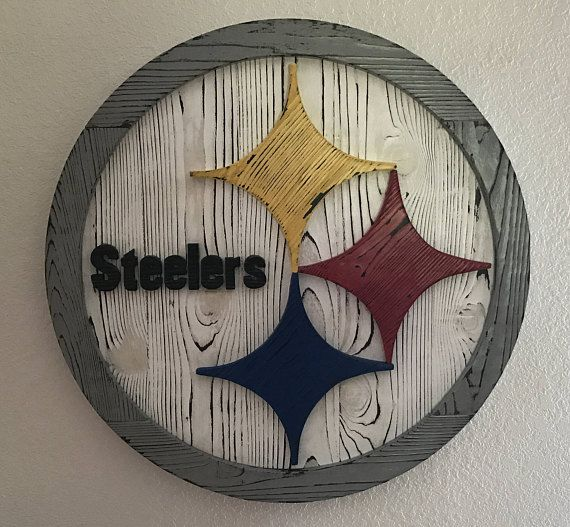 Pittsburgh Steelers Wood Sign Steelers Wall Art Steelers With