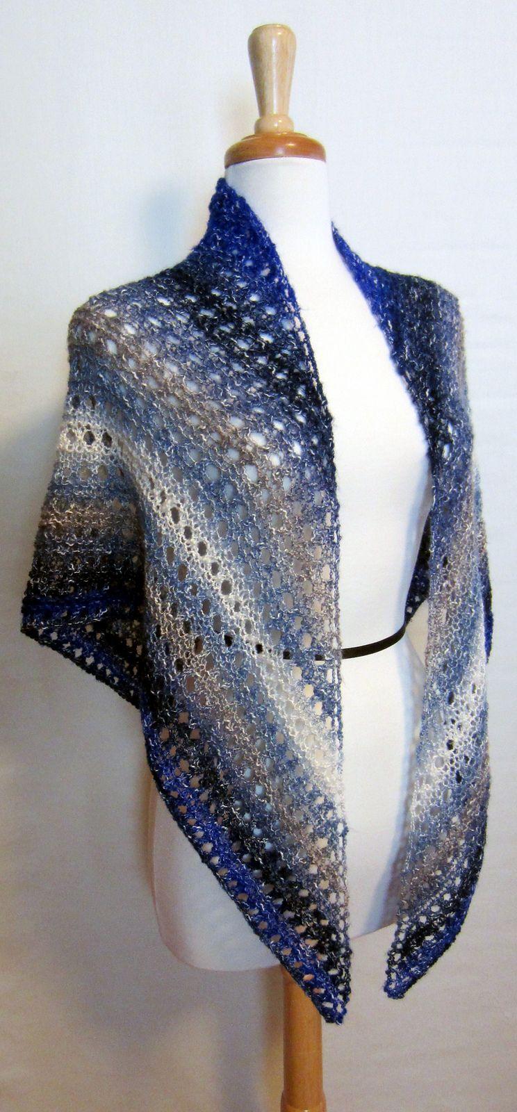 Easy Lace Shawl Pattern By Jennifer Murphy Knitspiration Crochet