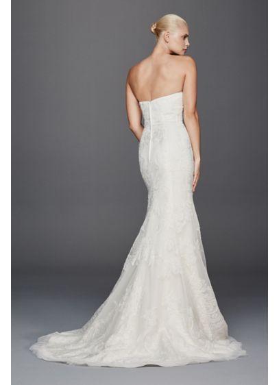 Truly Zac Posen Strapless Lace Wedding Dress Zp341636 Strapless Lace Wedding Dress Wedding Dresses Lace Lace Mermaid Wedding Dress