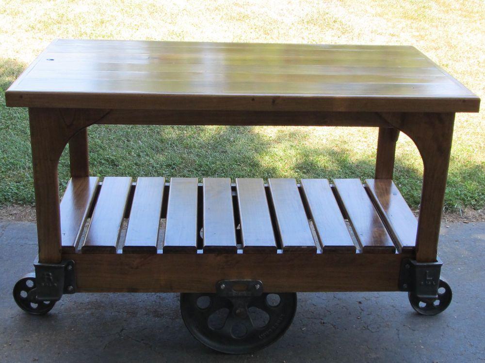 refurbished antique cast iron lineberry cart cherry wood kitchen island bar lineberry cherry on kitchen island ideas kitchen bar carts id=50799