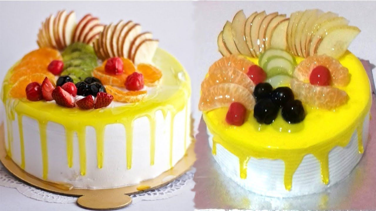 How To Make A Cake With Jelly Fruits