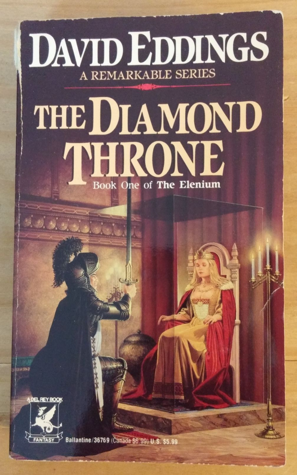 The Diamond Throne Book One Of The Elenium David Eddings Epic Fantasy Books Fantasy Books Fantasy Book Covers