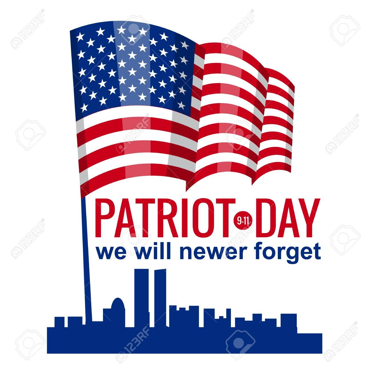Patriot Day September 11 We Will Never Forget Illustration Spon September Day Patriot Illustration Forget Day Patriots Day Logo Food