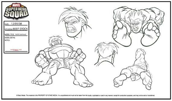 Superhero Squad Hulk Coloring Page 58944   LOADTVE