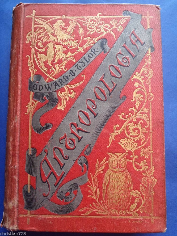 1888 ANTROPOLOGIA ANTHROPOLOGY TYLOR - 77 ENGRAVINGS XRARE SPANISH