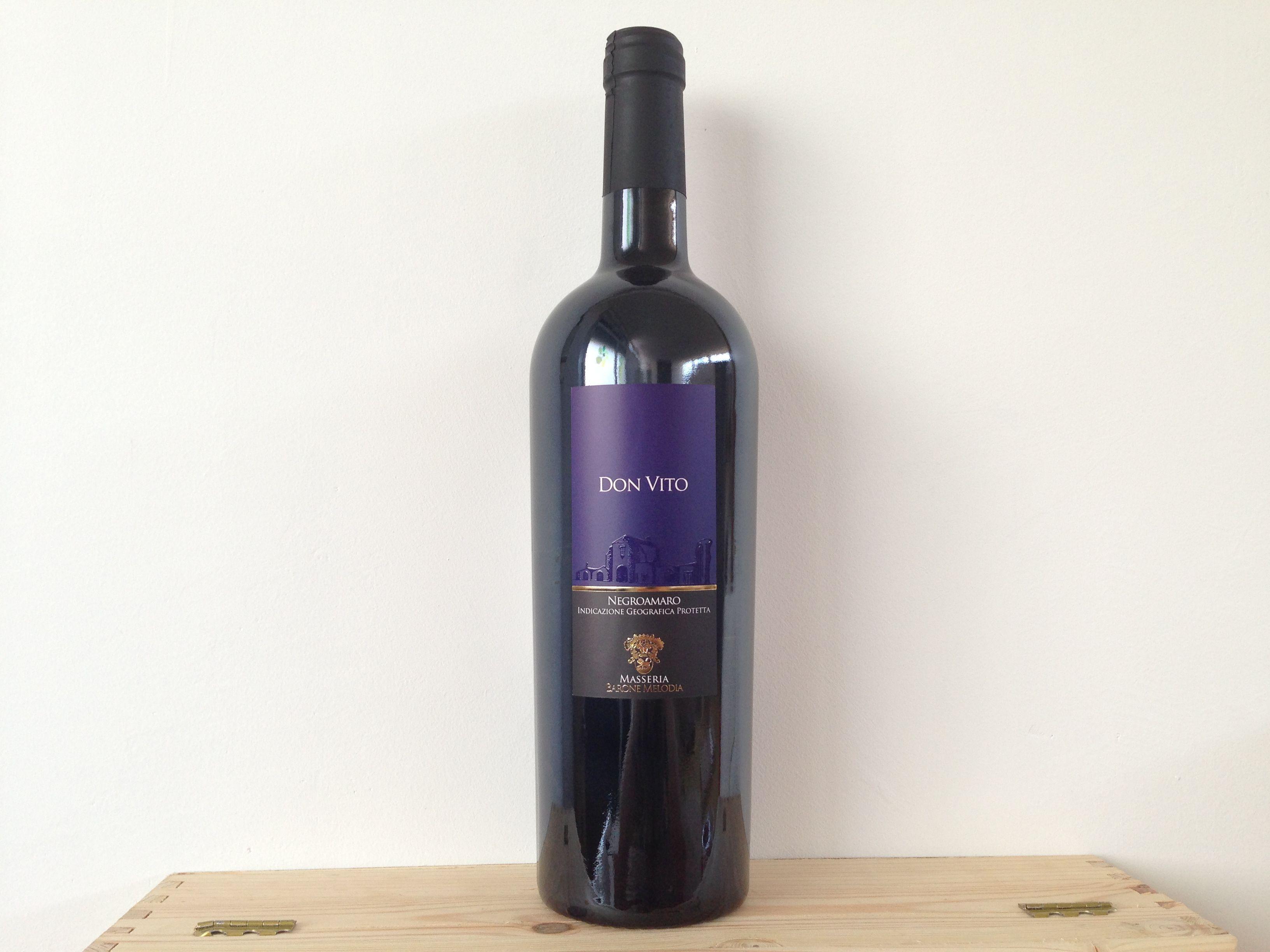 """Vino rosso """"DON VITO"""" Negroamaro barricato IGP #vino #wine #redwine #vinorosso #negroamaro #italy #italia #Puglia"""