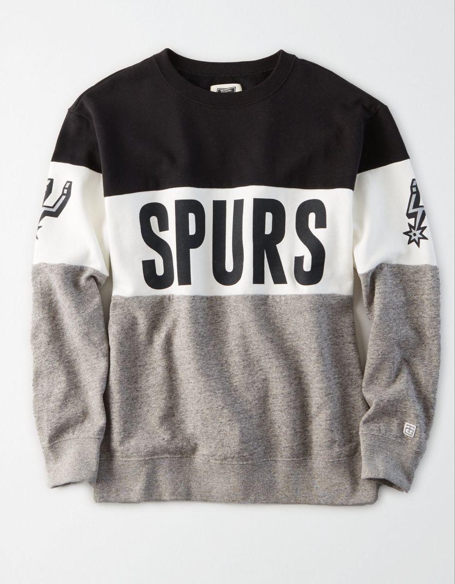 Tailgate Women S San Antonio Spurs Colorblock Sweatshirt Color Block Sweatshirt Sweatshirts San Antonio Spurs [ 1200 x 936 Pixel ]