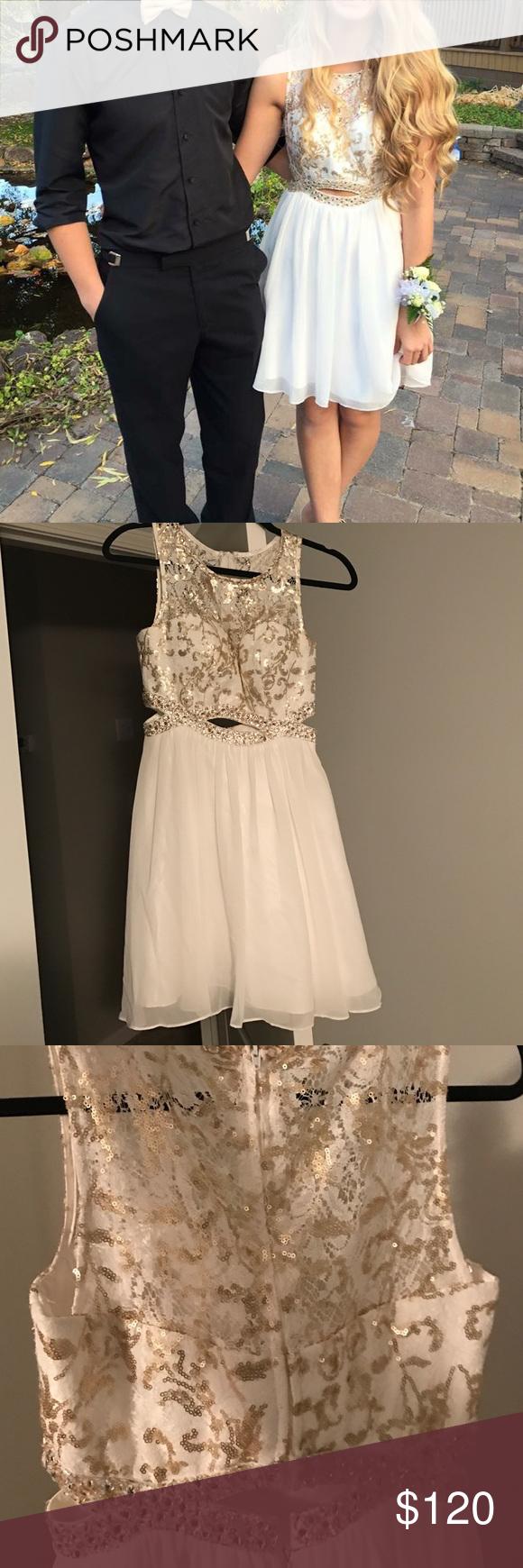 Short prom dress pinterest gold shorts short prom dresses and