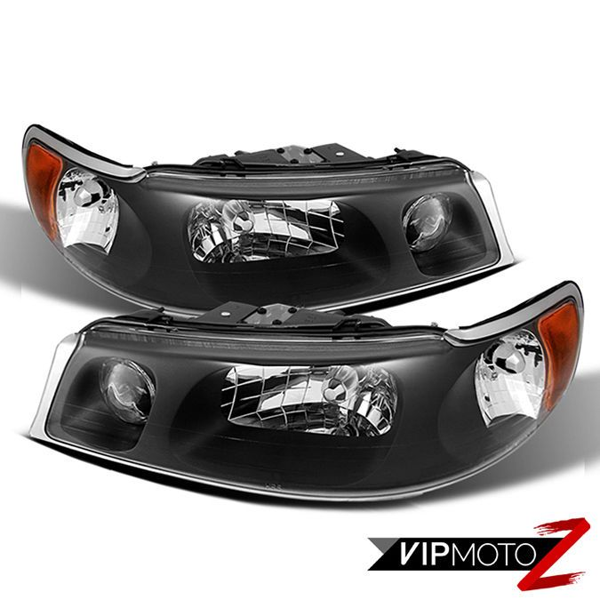 1998-2002 Lincoln Town Car Black Factory Style Headlights Assembly LEFT RIGHT #VIPMOTOZ