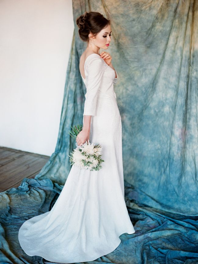 Elegant gown made from cotton jacquard - Cassiopeia by Milamira ...