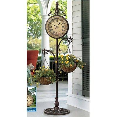 Living Home Outdoors 15 X 20 Cast Iron Outdoor Clock With