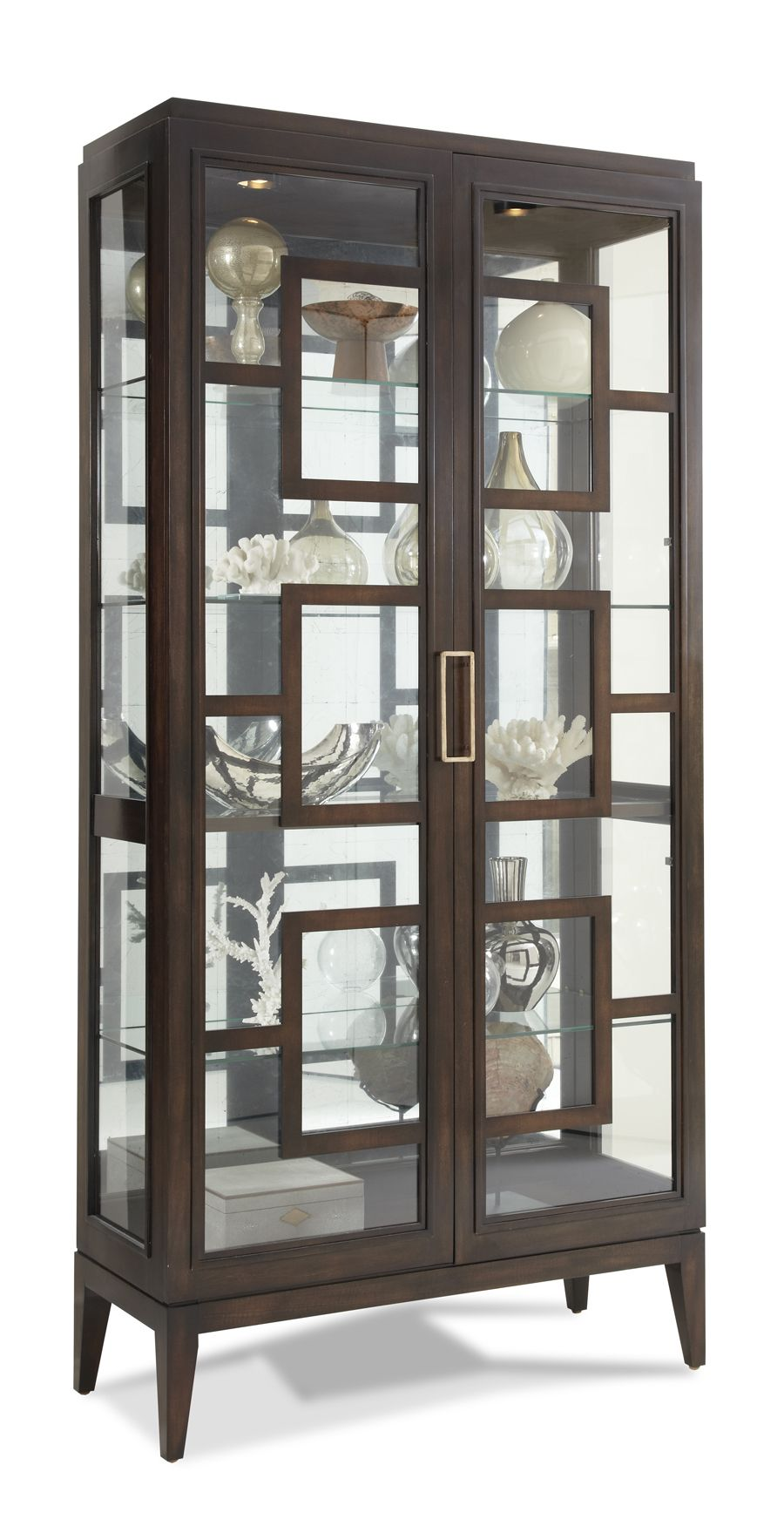 PIck Your Own Finish Hickory White   440 41 Rhodes Curio Cabinet