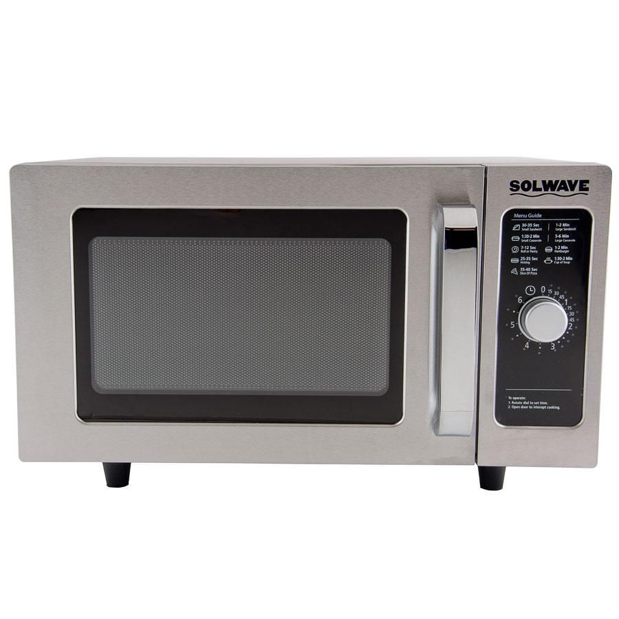 Solwave Mw1000d 1000 Watt Commercial Dial Microwave 120v