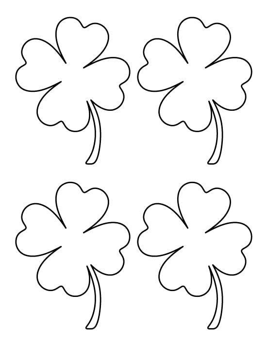 four leaf clover coloring pages  kleeblatt basteln