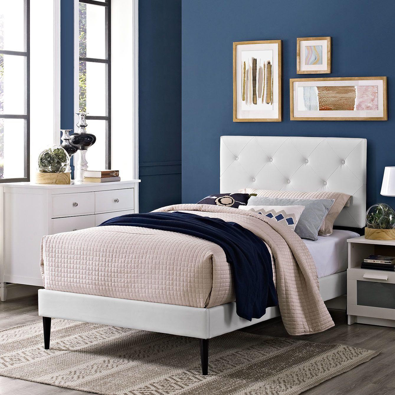 Terisa Upholstered Platform Bed Bedroom panel