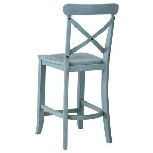 24 Quot French Country X Back Counter Stool Target Mobile