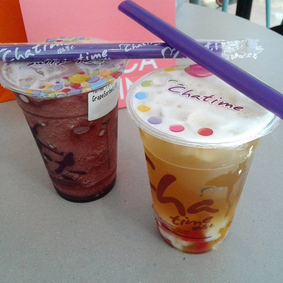 Chatime herbal tea -  Repost Tabby7cat Cha Time I M Drinking Japanese Sakura Sencha Alex