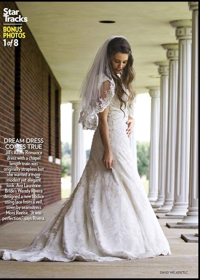 Another view of Jill Duggar\'s wedding dress | Wedding Ideas ...