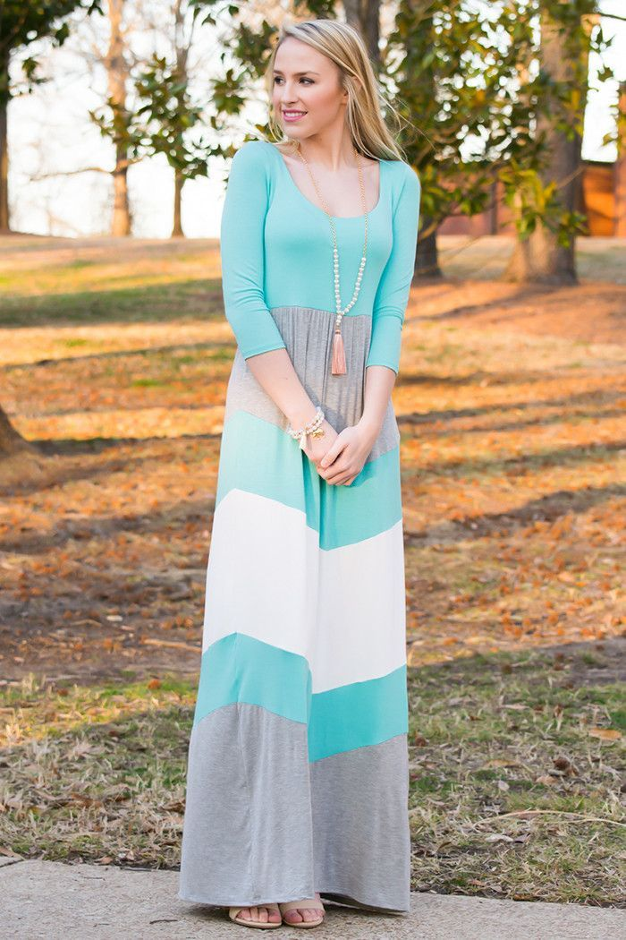 Block Color Amazing Maxi Dress